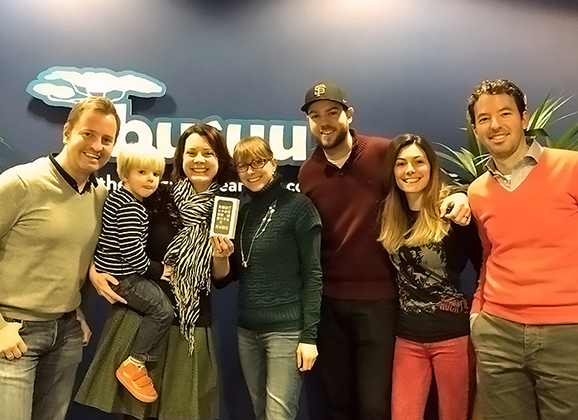 I collected my prize iPhone from the lovely staff at Busuu's London office!