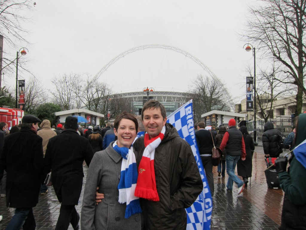 Prize tickets to the Carling Cup Final meant I could see my team (Birmingham) beat my husband's team (Arsenal)!
