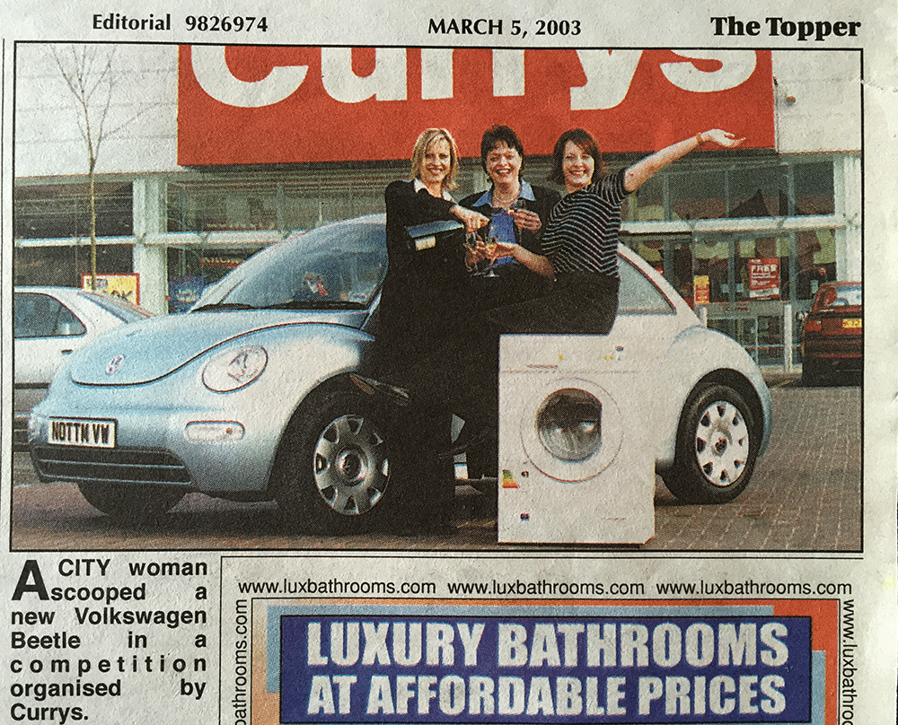 Di Coke wins a VW Beetle