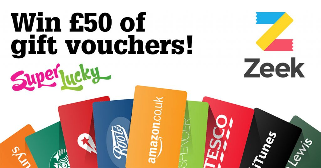 Win 50 of gift vouchers with zeek ended superlucky win 50 of gift vouchers negle Gallery