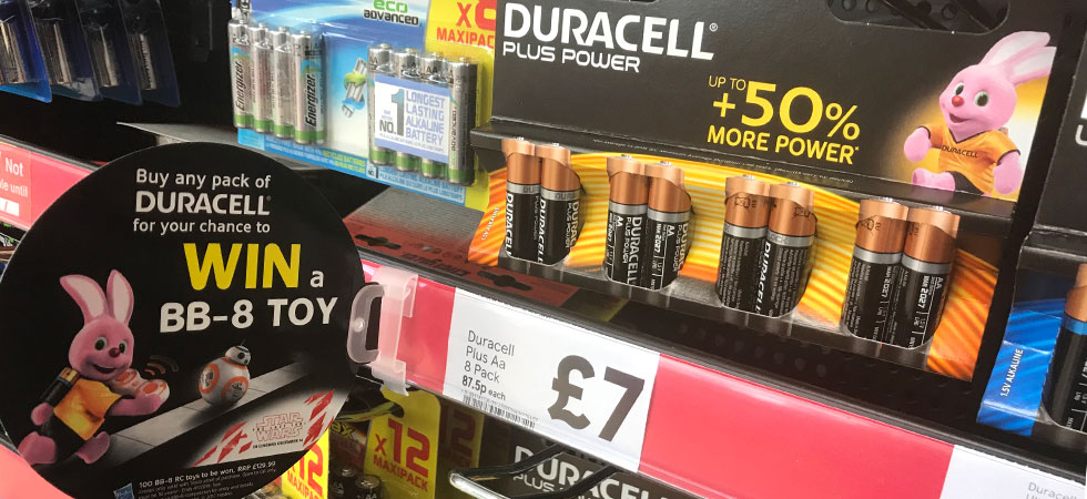 Duracell & Tesco Christmas competition - win a hundred BB-8s!