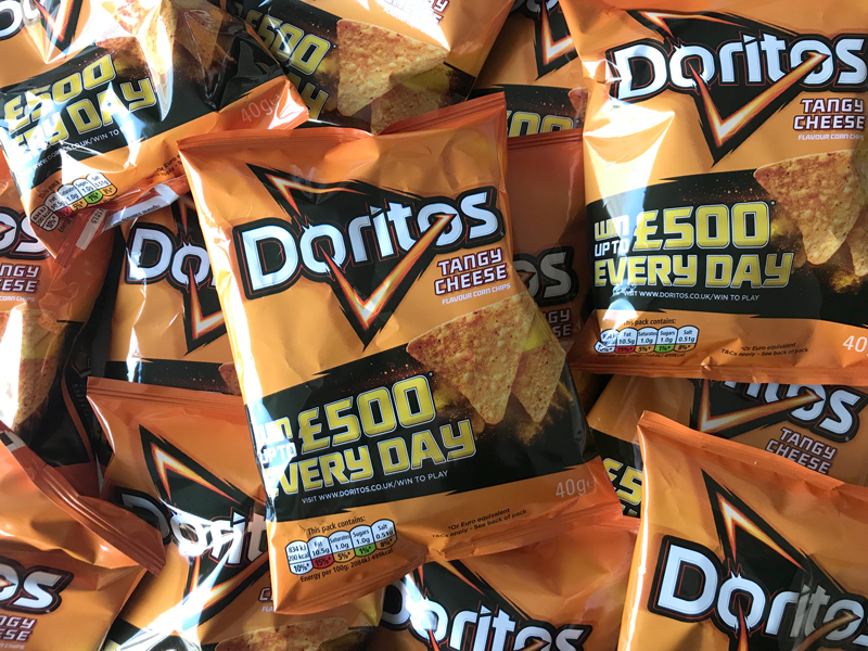 Win thousands of cash prizes when you buy Doritos!