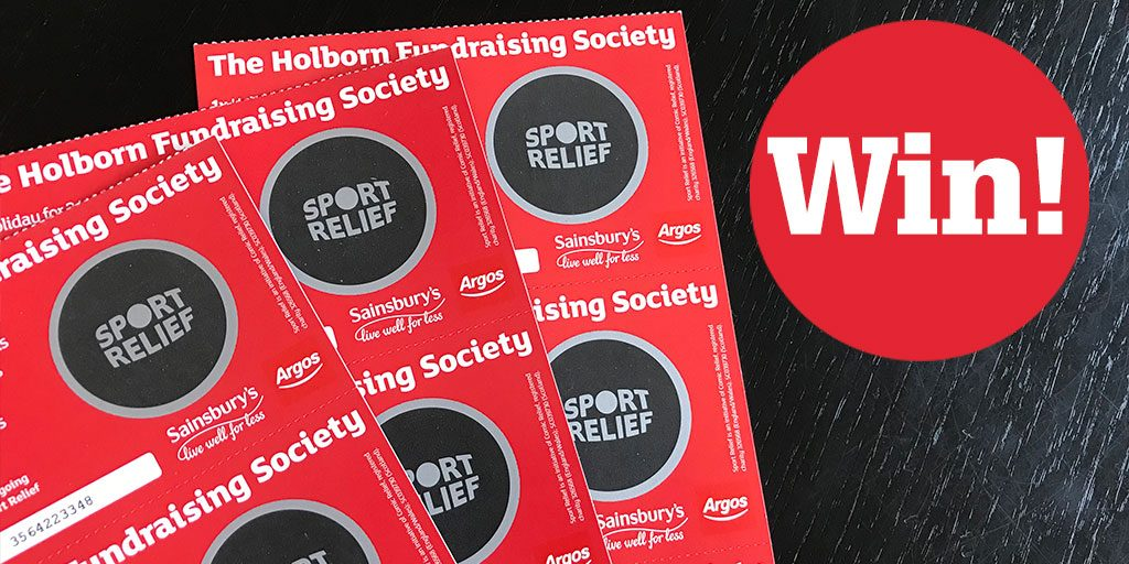 Win ten Sport Relief scratchcards