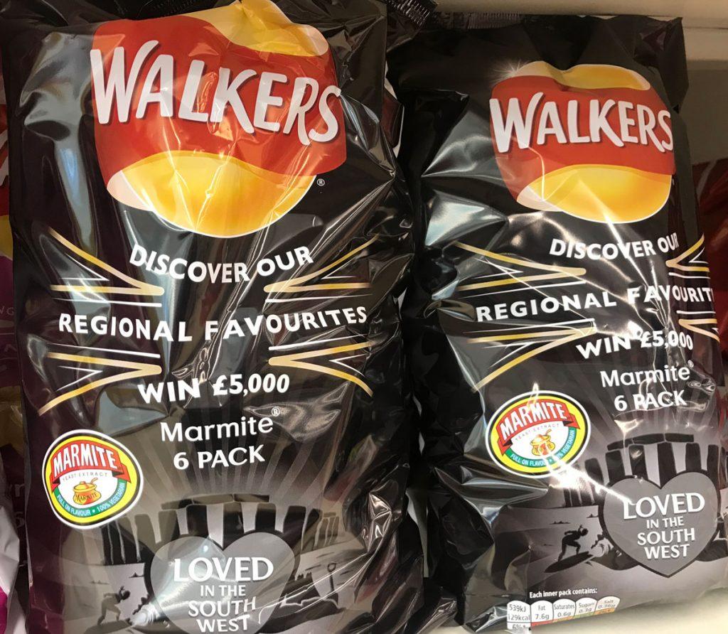 Win £5000 every week when you buy Walkers Regional Favourites