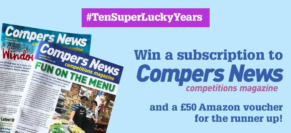 Celebrating ten years of SuperLucky - win a subscription to Compers News!